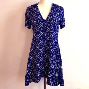 NWOT Free People Printed Mini Dress